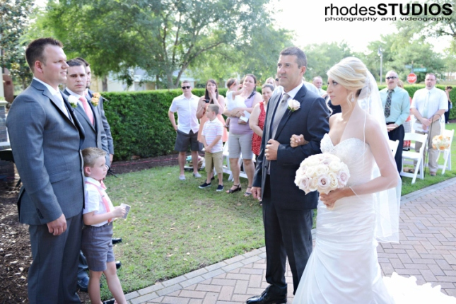 Rhodes Studios, Lee James Floral Design, Orlando weddings, bride seeing groom
